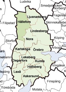 karta lindesbergs kommun Geografiskt läge   Hällefors kommun karta lindesbergs kommun